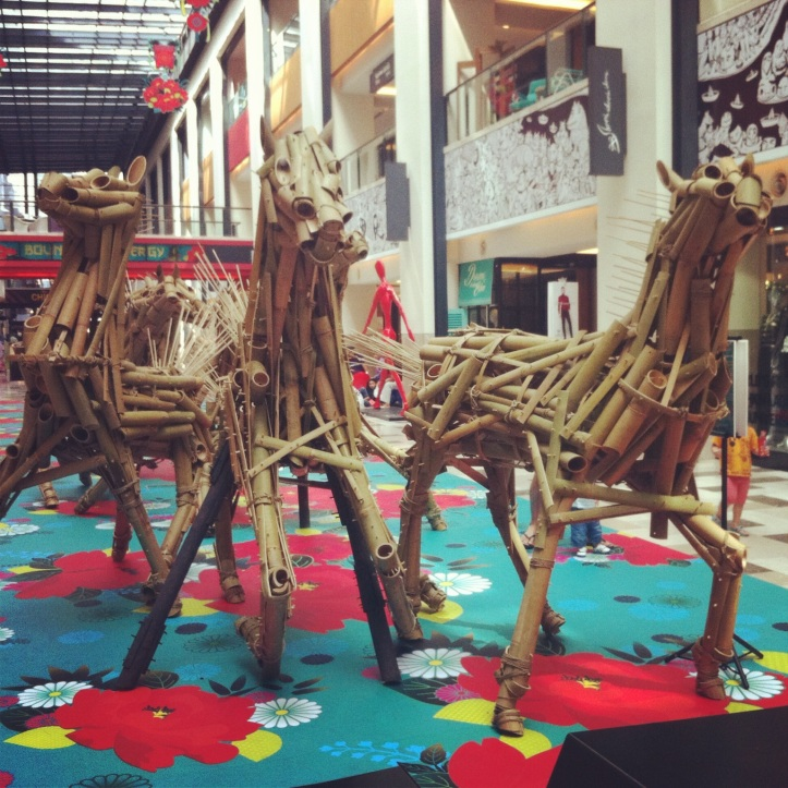 An art installation in Publika shopping centre to mark the start of the Year of the Horse.