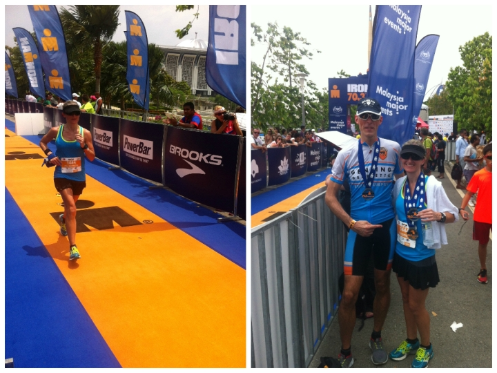 (L) Approaching the finish line. (R) Two-thirds of Team PJJ Express